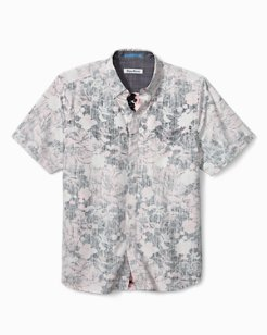 Big & Tall Seaspray Floral Camp Shirt
