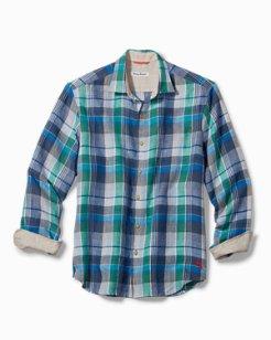 Big & Tall Vero Beach Madras Linen Shirt