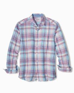 Big & Tall Plaid Lauderdale Linen Shirt