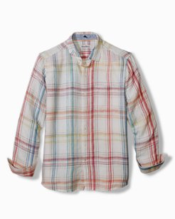 Big & Tall Summerland Plaid Linen Shirt