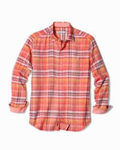 Big & Tall Nod To Madras IslandZone® Linen Shirt