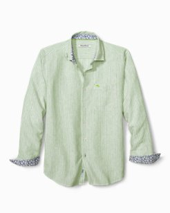 Big & Tall Bungalow Stripe IslandZone® Linen Shirt