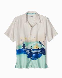 Big & Tall Sunset Sails Camp Shirt
