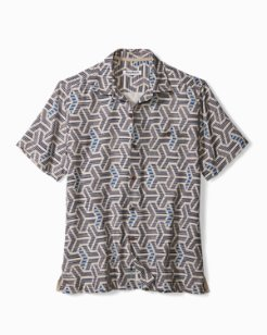 Big & Tall Wellington Geo IslandZone® Camp Shirt