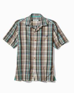 Big & Tall Royal Palm Plaid IslandZone® Camp Shirt