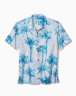 Big & Tall Palm Azul Camp Shirt
