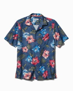Big & Tall Hibiscus In The Mist IslandZone® Camp Shirt
