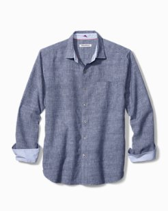 Big & Tall Lanai Tides Stretch-Linen Shirt