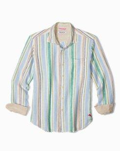 Big & Tall Mercado Stripe Linen Shirt