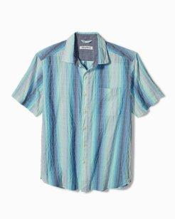 Big & Tall La Prisma Stripe Stretch-Cotton Camp Shirt