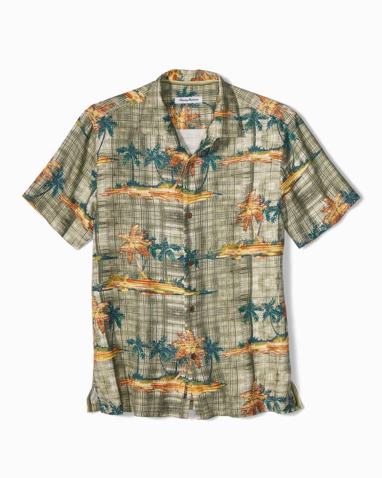 Big & Tall Zama Palms IslandZone® Camp Shirt | Tuggl