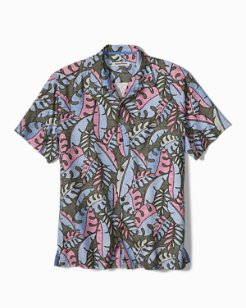 Big & Tall Mateo Fronds IslandZone® Camp Shirt