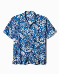 Big & Tall Baja Batik Camp Shirt