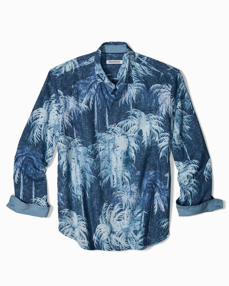 Big & Tall Indigo Evening IslandZone® Linen Shirt | Tuggl
