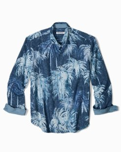 Big & Tall Indigo Evening IslandZone® Linen Shirt