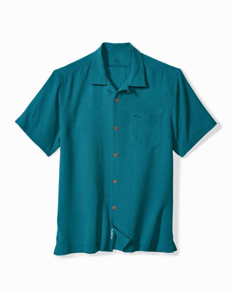 Big & Tall Royal Bermuda IslandZone® Camp Shirt | Tuggl