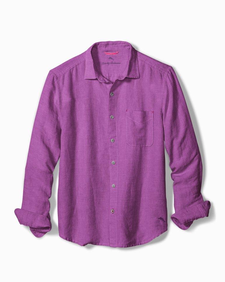 Big & Tall Sea Glass Breezer Linen Shirt | Tuggl