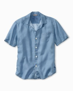Big & Tall Sea Glass Breezer Linen Camp Shirt