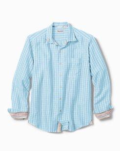 Big & Tall Sand Linen Plaid Shirt