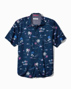 Big & Tall Costa Breeze Stretch-Cotton Camp Shirt