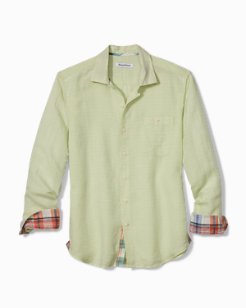 Big & Tall Beach Breaker Sand Linen Shirt
