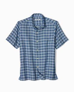 Big & Tall Geo Tini Plaid Camp Shirt