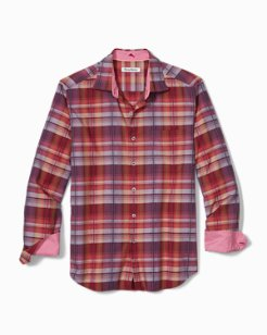 Big & Tall Puerto Prism Plaid Stretch Shirt