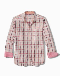 Big & Tall Sea Break Plaid Stretch Shirt