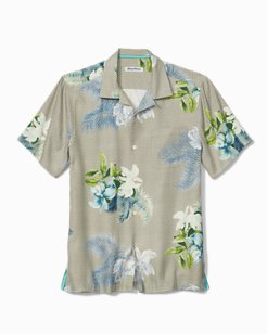 Big & Tall Diamante Del Flora Camp Shirt