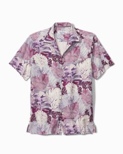 Big & Tall Royal Costa Vines IslandZone® Camp Shirt