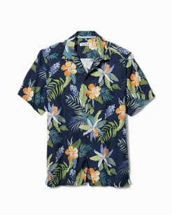 Big & Tall Beach Crest Blooms IslandZone® Camp Shirt