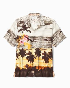 Big & Tall Sunset Serenade Camp Shirt