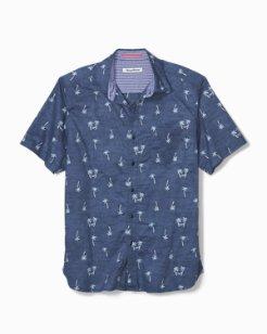 Big & Tall Hammock Time Stretch-Cotton Camp Shirt