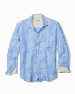 Big & Tall Frond Impressions Linen Shirt