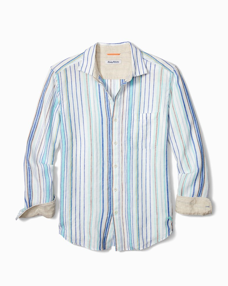 Main Image for Big & Tall Lagoon Stripe Linen Shirt