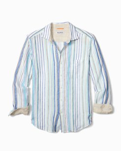 Big & Tall Lagoon Stripe Linen Shirt
