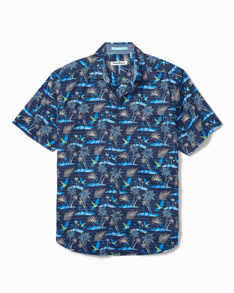 Main Image for Big & Tall Isle Of Palms Stretch-Cotton Camp Shirt