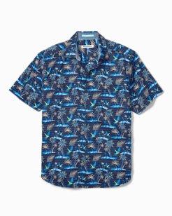 Big & Tall Isle Of Palms Stretch-Cotton Camp Shirt