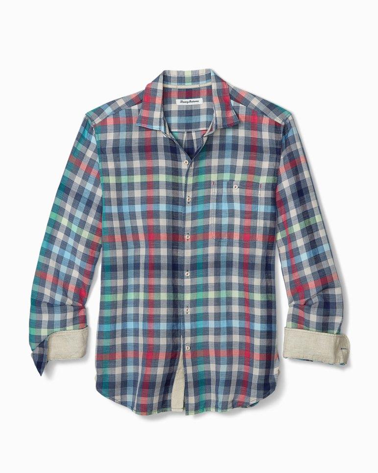 Main Image for Big & Tall North Shore Check Linen Shirt