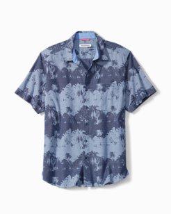 Big & Tall Pixel Palms Camp Shirt