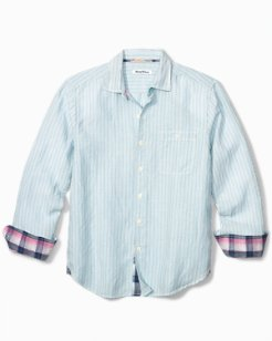 Big & Tall Sand Linen Stripe Shirt