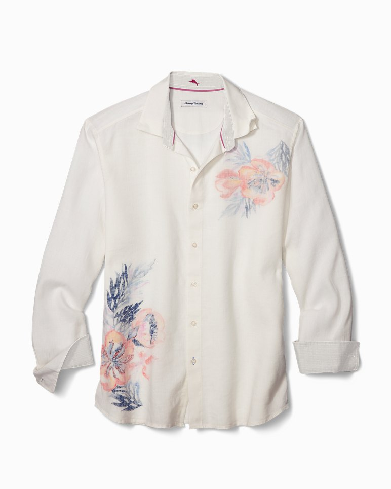 Main Image for Big & Tall South Pacific Escape Stretch-Linen Shirt
