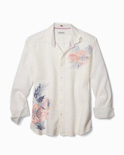 Big & Tall South Pacific Escape Stretch-Linen Shirt