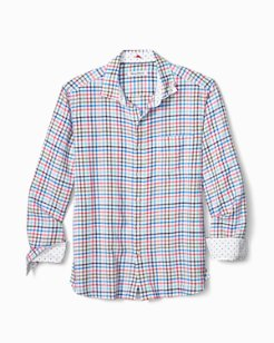 Big & Tall Haku Check Stretch-Linen Shirt