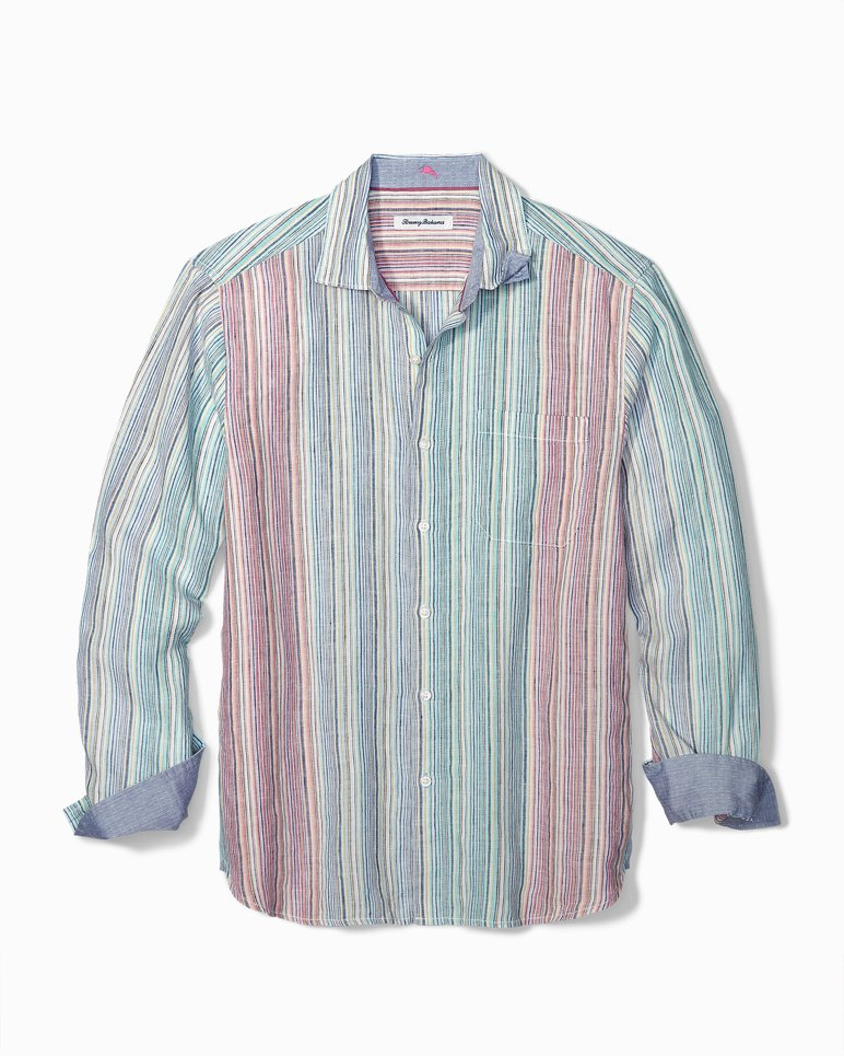 Main Image for Big & Tall Vairó Stripe Linen Shirt