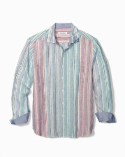 Big & Tall Vairó Stripe Linen Shirt