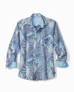 Big & Tall Paradise Sketch Stretch-Linen Shirt