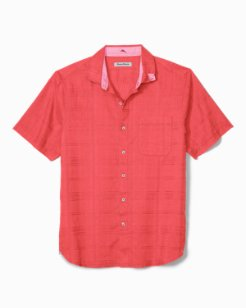Big & Tall Costa Tautira Stretch-Linen Camp Shirt