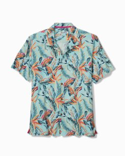 Big & Tall Break Wave Fronds IslandZone® Camp Shirt
