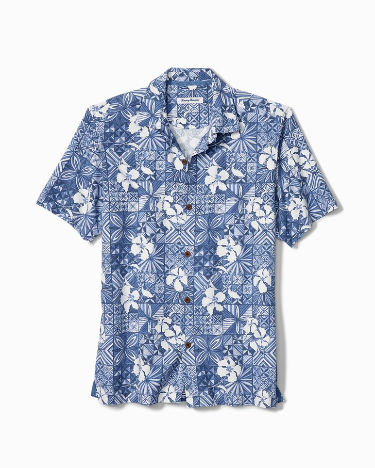 Main Image for Big & Tall Tahitian Tiles IslandZone® Camp Shirt